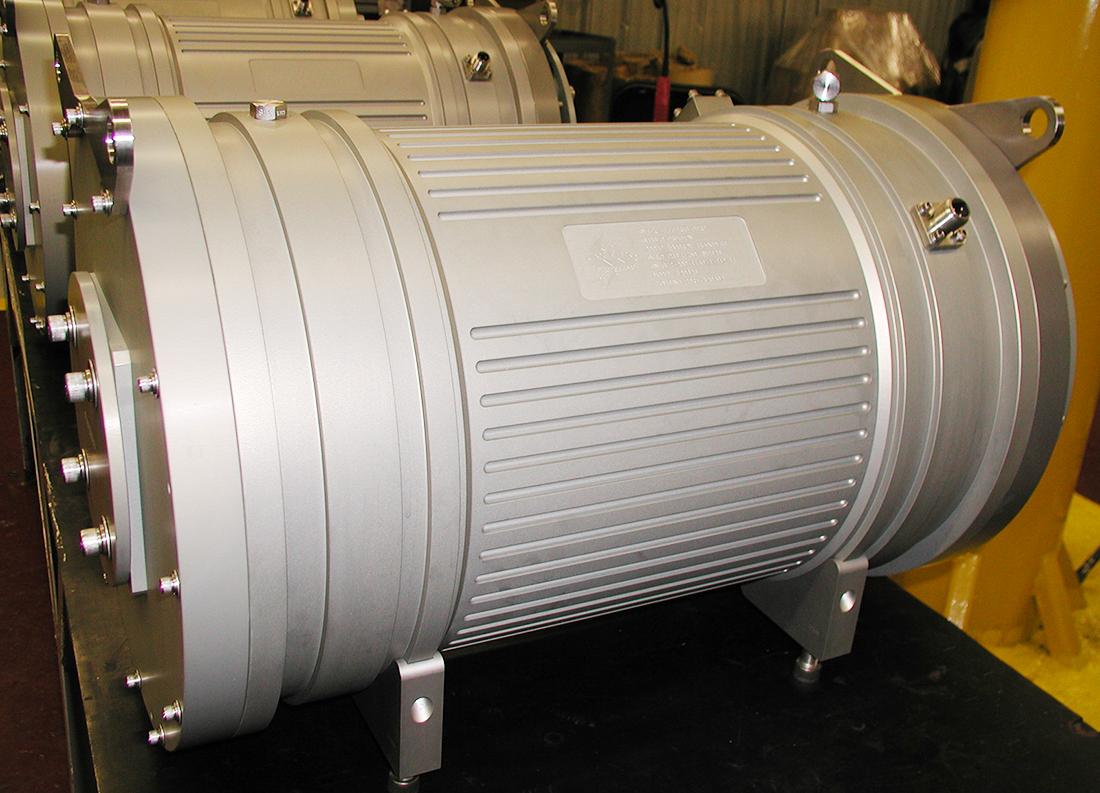 large silver motor